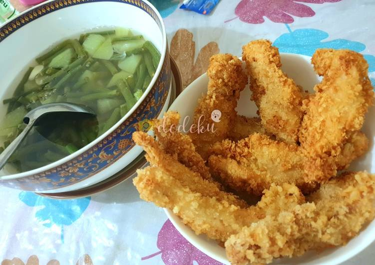 Ayam Katsu Sayur Asem Bening (healthy fast food)