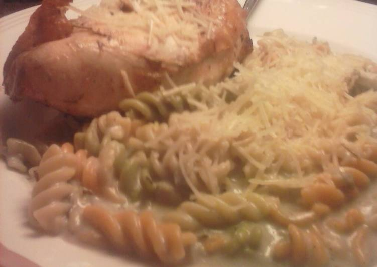 Brad's chicken au vino with artichoke parmesan Alfredo, Helping Your Heart with Food
