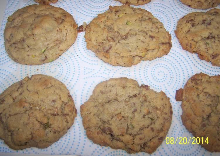Chocolate Heath Pistachio Cookies