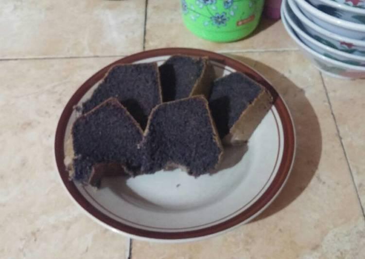 cara masak Bolu panggang ketan hitam - Sajian Dapur Bunda