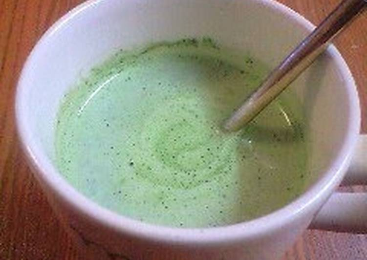 Recipe of Super Quick Homemade The Flavor of Starbucks! Matcha Tea Latte