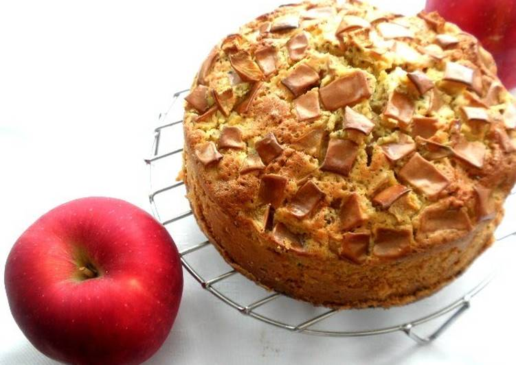 How to Cook Yummy Perfect in Autumn! Light and Fluffy Apple and Black Tea Cake