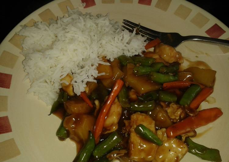 Recipe of Quick Low Fat Sweet and Sour Chicken