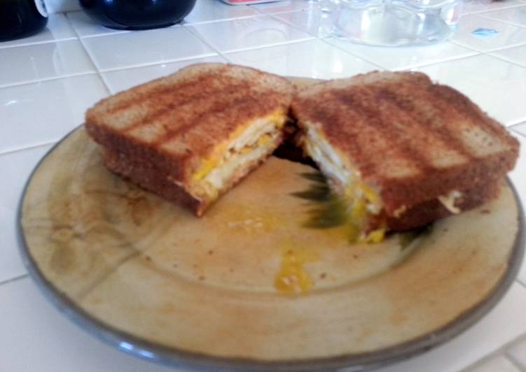 Recipe of Ultimate Monster Ham & Egg breakfast Panini