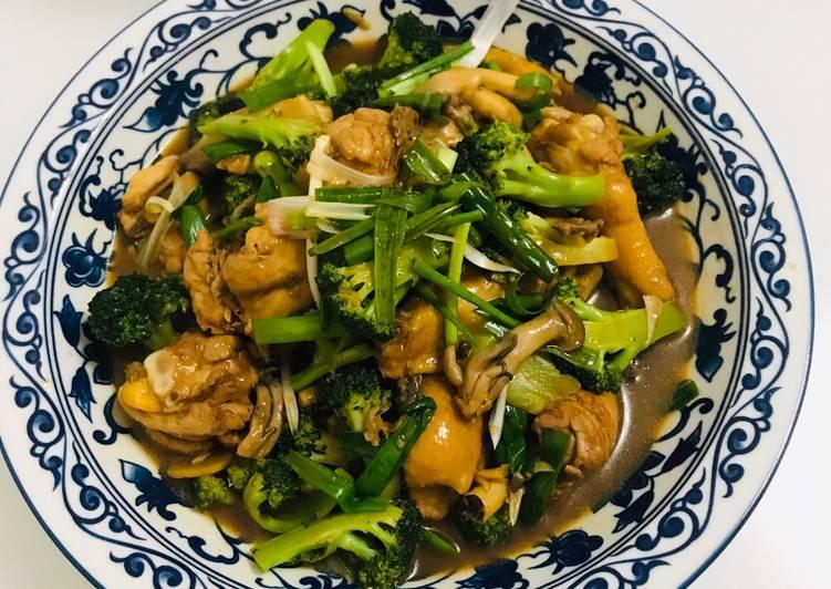 Tumis Ayam Jamur Broccoli Saus Tiram ???