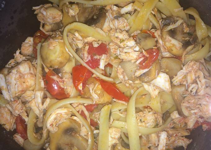 Recipe of Homemade Lemon Chicken Fettuccine