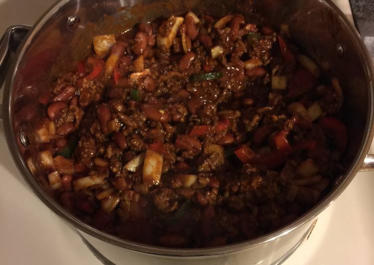 Recipe: Appetizing Thick Ass Three Meat Chili