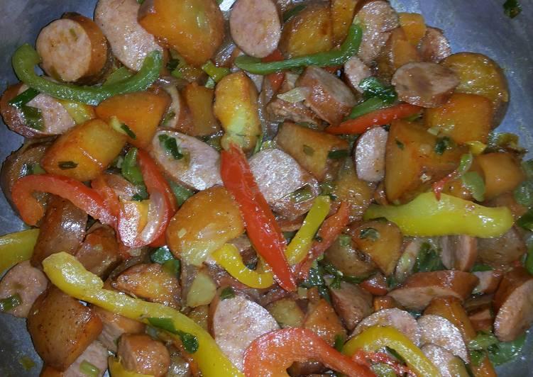 Baked Potatoes & Sausage