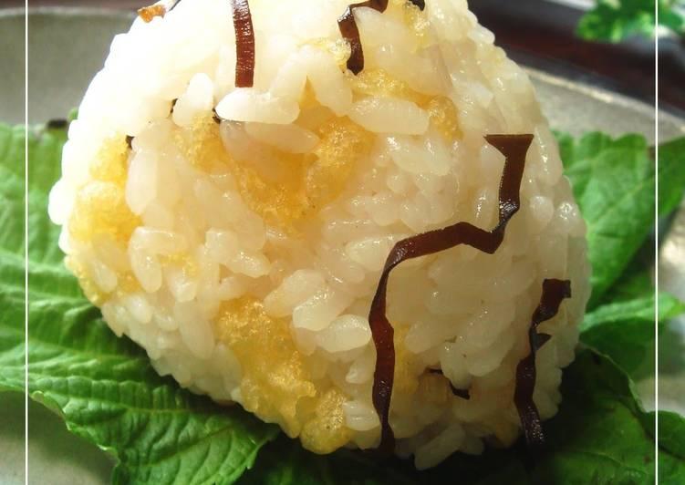 Simple Way to Make Award-winning Tempura Crumbs & Shio-konbu Onigiri