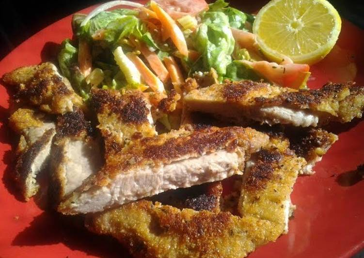 Recipe of Award-winning Crumbed Pork with Lemon & Thyme