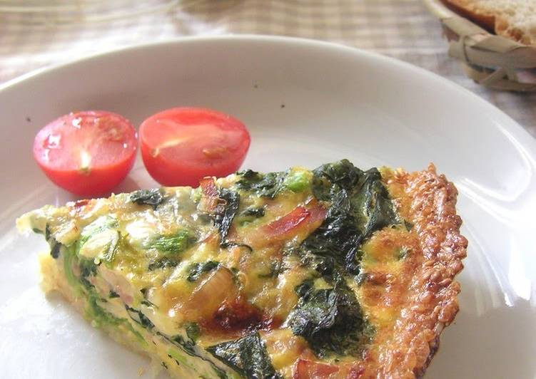 Easiest Way to Prepare Tasty Healthy Quiche with a Crispy Rice Crust