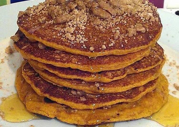 Easiest Way to Prepare Ultimate Vickys Pumpkin Pancakes & Cinnamon Crumble Topping, GF DF EF SF