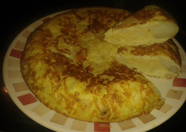 Easy Healthy Recipe: Appetizing Low fat Spanish omelette