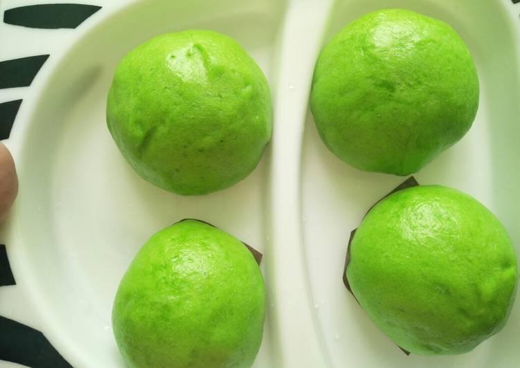 resep cara bikin Bakpo hijau lembut