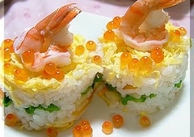 Easiest Way to Prepare Perfect Easy Chirashi Sushi Like A Cake