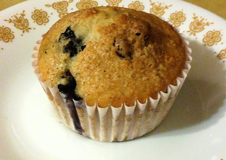 Recipe of Homemade Low Fat Cran-Blueberry Muffins