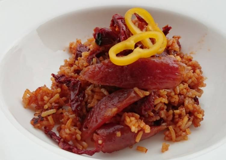 How to Prepare Appetizing Chinese Sausage And Sun Dried Tomato Fried Rice