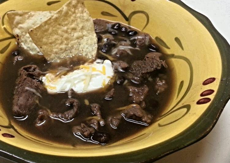 Recipe of Homemade Steak and Black Bean Soup