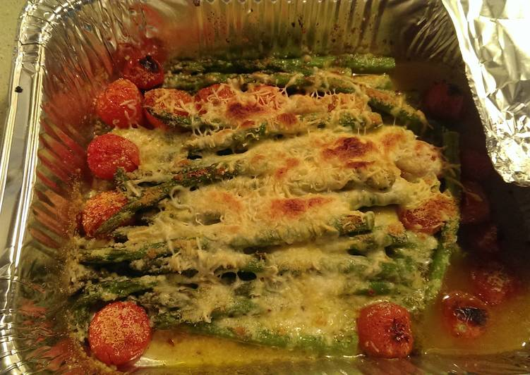 Asparagus with grape tomatoes