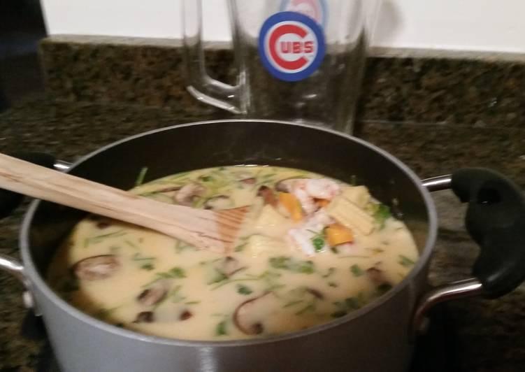 Step-by-Step Guide to Prepare Homemade Tom Ka. Soup my version