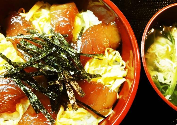 25 Minute How to Make Favorite Marinated Tuna Rice Bowl