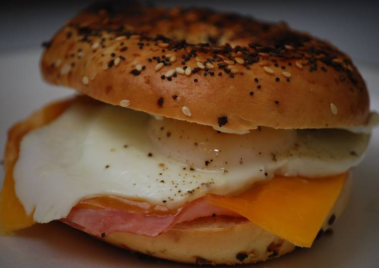 Ham, Egg, & Cheese Bagel Sandwich