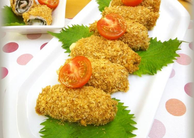 How to Prepare Favorite Non-Deep-Fried! Pork, Shiso Leaves, and Cheese Rolled Cutlets