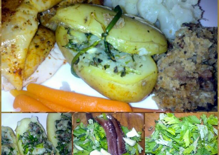 How to Prepare Appetizing Sig's herb stuffed potatoes