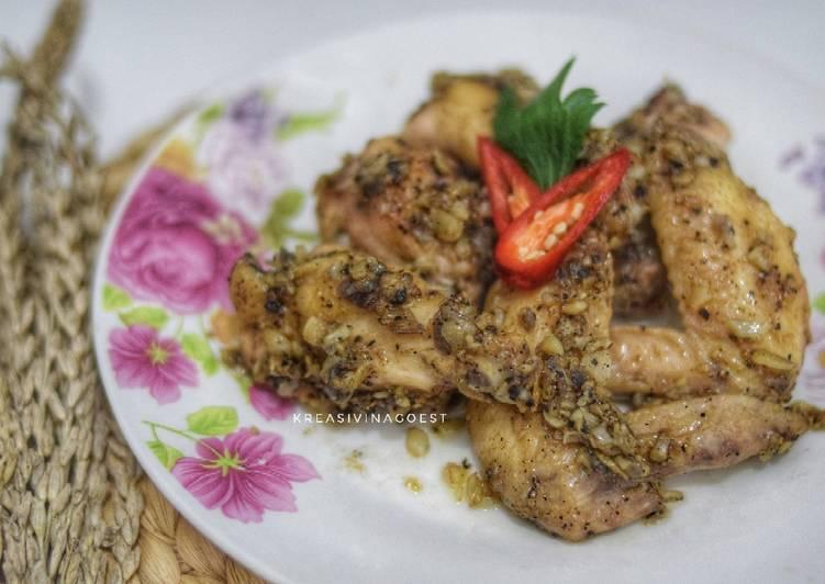 Ayam Masak Bawang Putih ala Spanyol