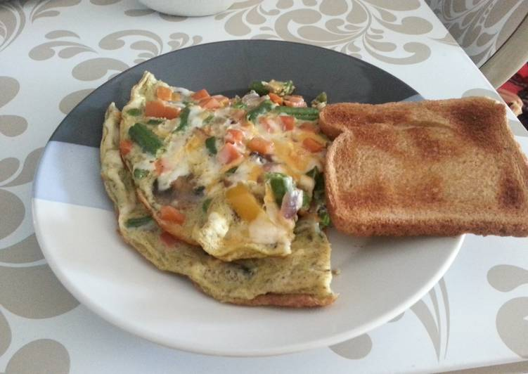 Easiest Way to Make Delicious Fully loaded veggie omelette