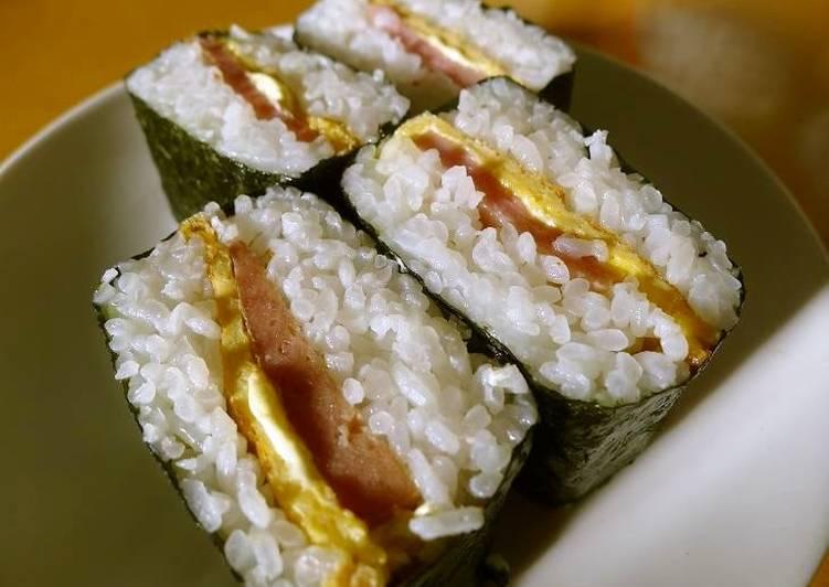 My Okinawan Grandma's Spam & Egg Onigiri (Rice Balls)