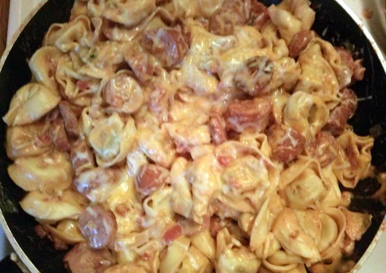 How to Make Quick One pot Tortellini in a creamy tomato sauce