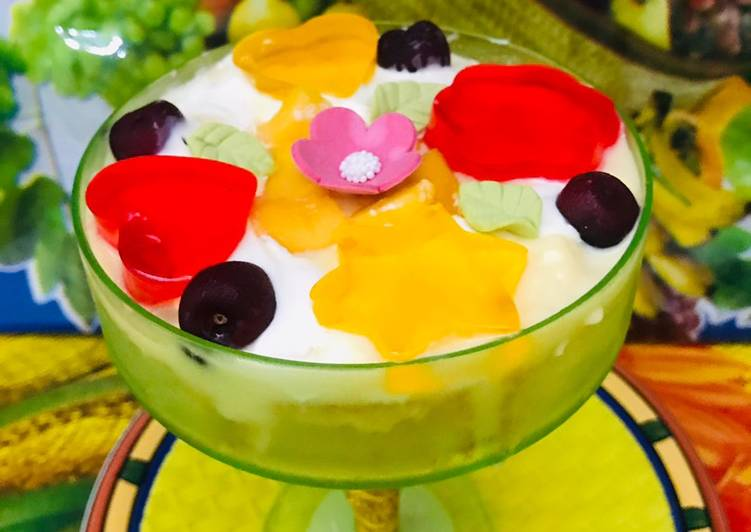 5 Minute Steps to Make Winter Mango jelly trifle (Eid special)