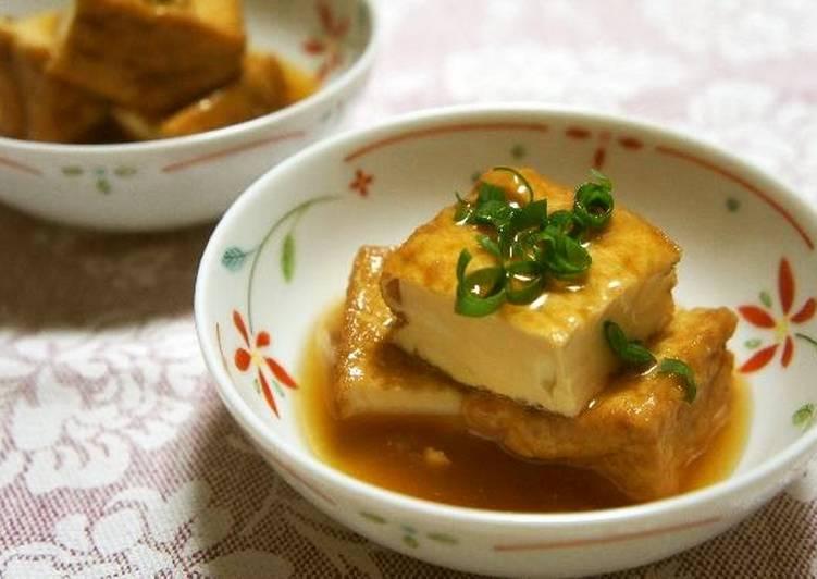 """Recipe of Perfect Easy """"Agedashi"""" Tofu with Atsuage"""