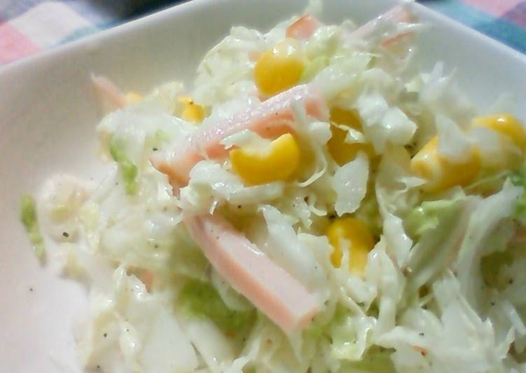 Recipe of Any-night-of-the-week Refreshing Chinese Cabbage Cole Slaw