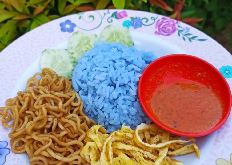 Langkah Mudah untuk Membuat Nasi Uduk kembang Telang…🌺🌺 Anti Gagal