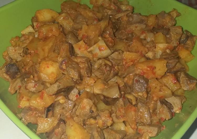 Sambal goreng ati ampela & kentang