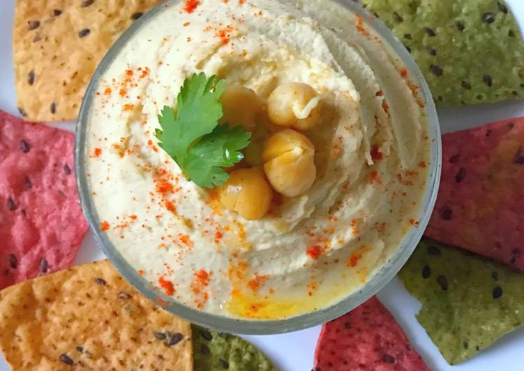 Homemade Sprouted Hummus recipe with Tahini