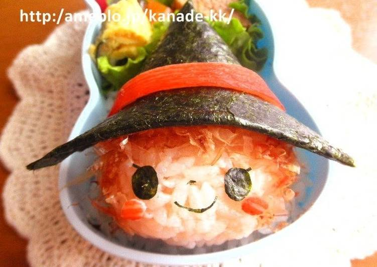 Use Food to Elevate Your Mood Halloween Witch Girl Character Bento