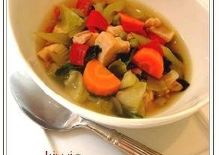 A Soup For Eating Lots Of Vegetables