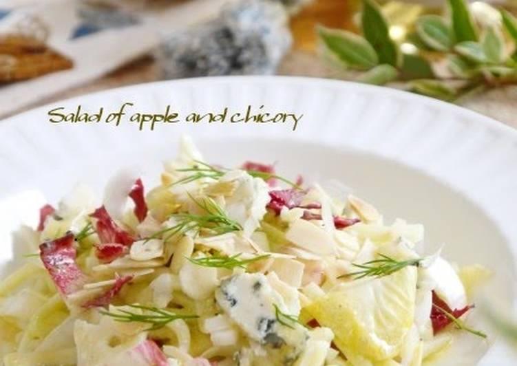 Easiest Way to Make Yummy Apple & Chicory Cheese Salad