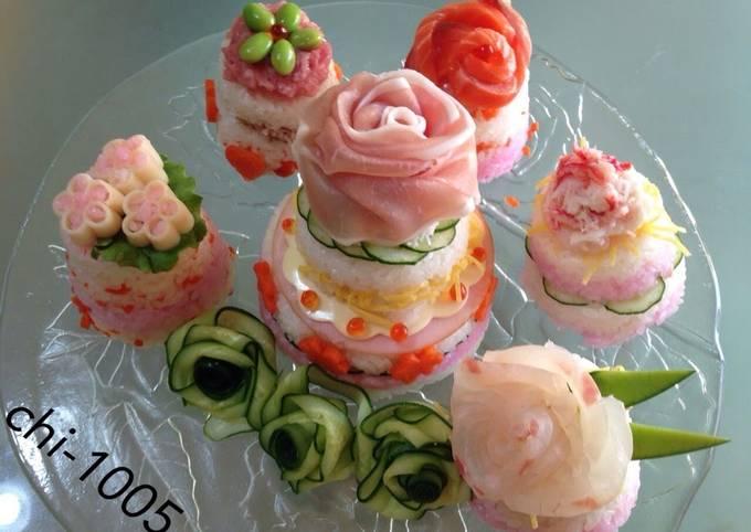 Sushi Cake For Hina Matsuri, Birthdays, Parties, or Celebrations!