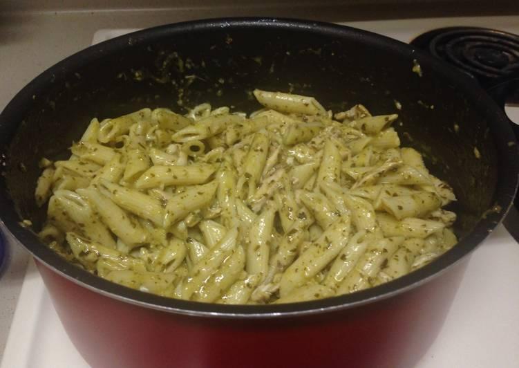 Steps to Prepare Any-night-of-the-week Basil Pesto Pasta W/ Chicken