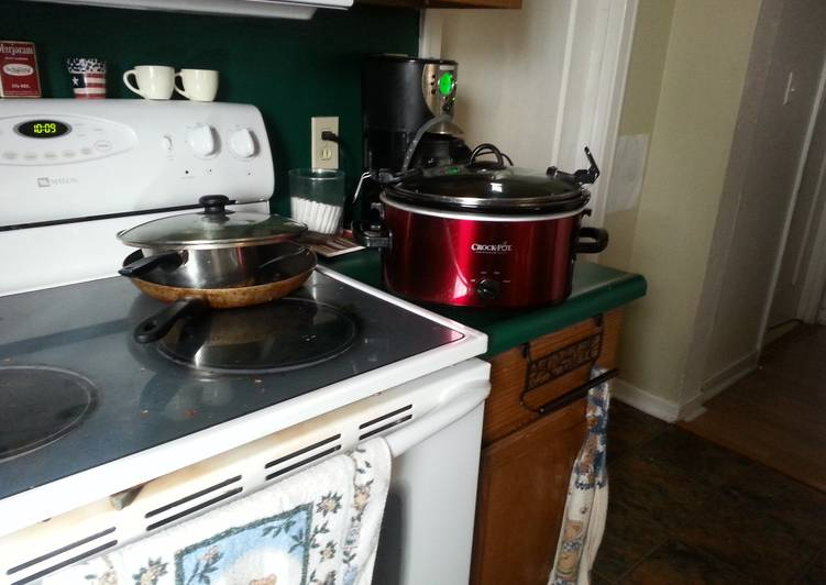 Recipe of Ultimate Converting stove cooking to crockpot