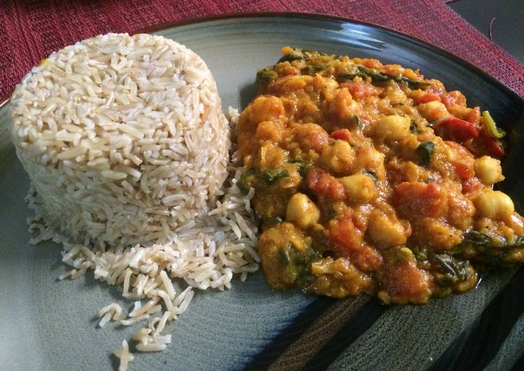 Vegetarian Spinach Curry Deciding on Wholesome Fast Food