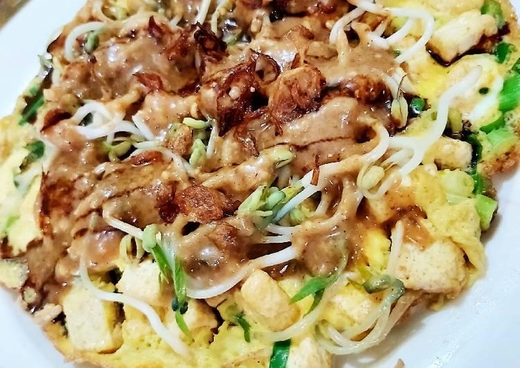 Telur dadar tahu touge #Telur3in1(sambal kacang)