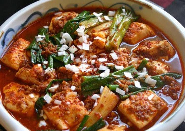 "How to Make Any-night-of-the-week Korean ""Red Braised Tofu and Scallion."" How Does Cheap, Delicious, and Fast Sound to You?"