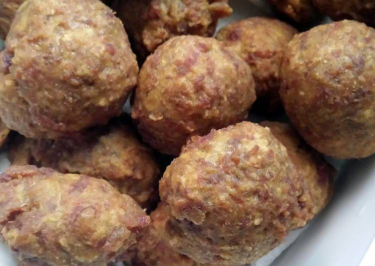 Recipe of Favorite Fried Curry Beef Balls