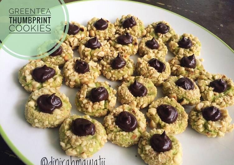 Greentea Thumbprint Cookies