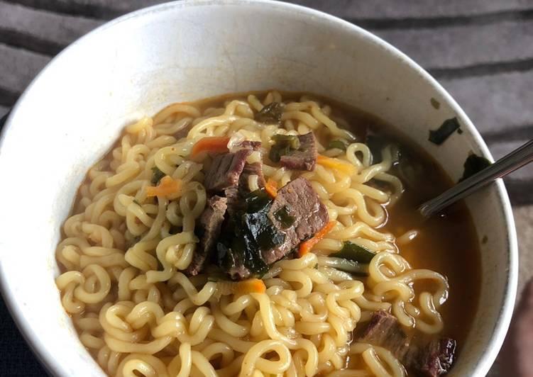 Recipe of Perfect Korean ramen w/ venison